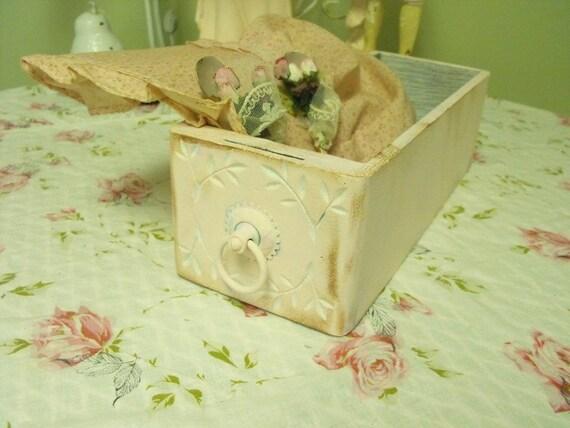 Vintage Pink Sewing Machine Drawer