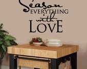 Wall Decal Season Everything With Love - Vinyl Wall Decal