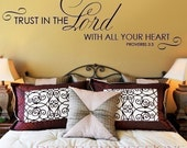 Wall Decal Trust in the Lord with All Your Heart   SCRIPTURE WALL DECAL