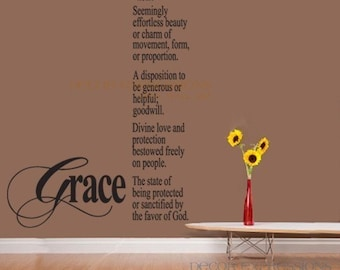 Wall Decal Definition Grace  Large Wall Art