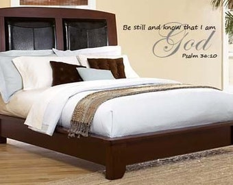 Scripture Wall Decal Be Still and Know That I am God   Psalm 46:10   WALL DECALS Scripture