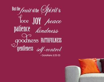 FRUITS of the SPIRIT Wall Decal