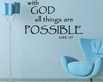 WALL DECAL With God All things Are Possible