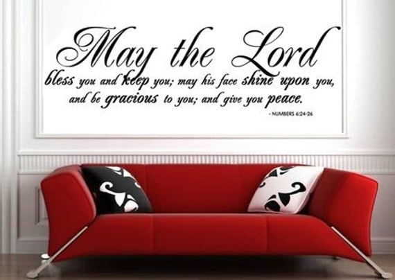 MAY THE LORD BLESS YOU AND KEEP YOU Vinyl Wall By