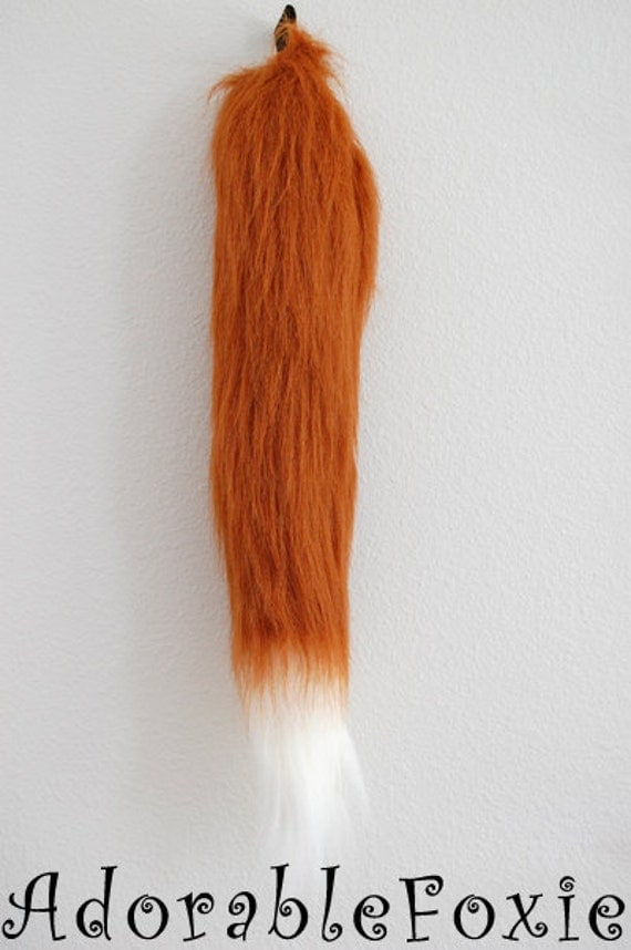 Faux Fur Rust Fox Tail - Cosplay / Furry / Costume