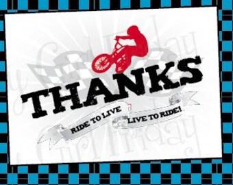 BMX Printable Thank you card