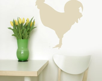 ROOSTER vinyl wall Decal Original Graphics by DECOmod Walls