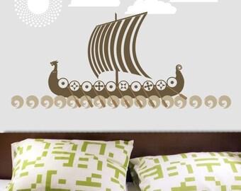 VIKING Ship Boat Vinyl Wall Decal Sticker Graphics by DECOmod Walls