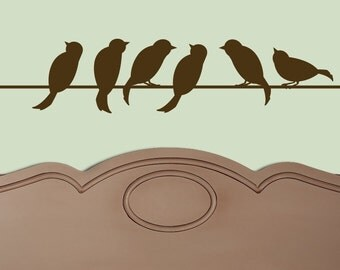 Birds on A Wire Vinyl Wall Decal Original Graphics by DECOmod Walls