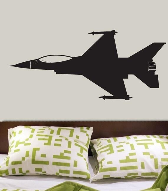 F-16 Jet Vinyl Wall Decal Sticker Graphics by DECOmod Walls