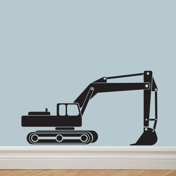 Tractor Excavator Vinyl Decal Sticker Letter Original Graphics by DECOmod Walls