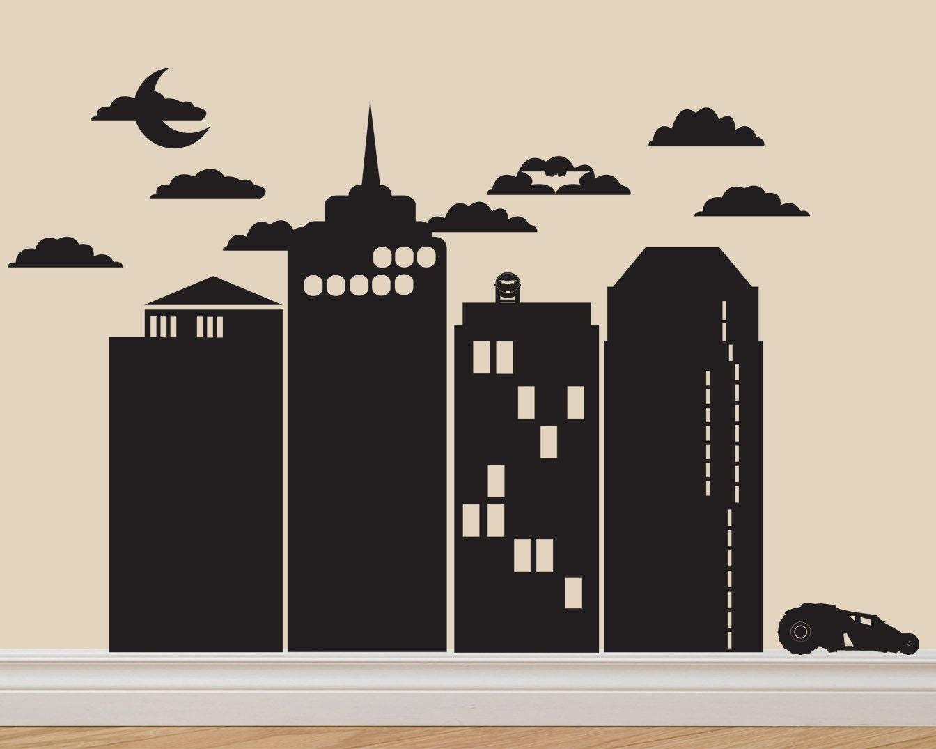 Gotham City Batman Vinyl Decal Sticker Original Graphics By