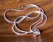 925 silver snake chain\/necklace 1mm 18 inches,