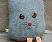 Adorable Plush Sweater Kitty in Gray