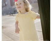 Custom Listing RESERVED for Sherry--Lemon-y Goodness Child's Dress - Size 12M