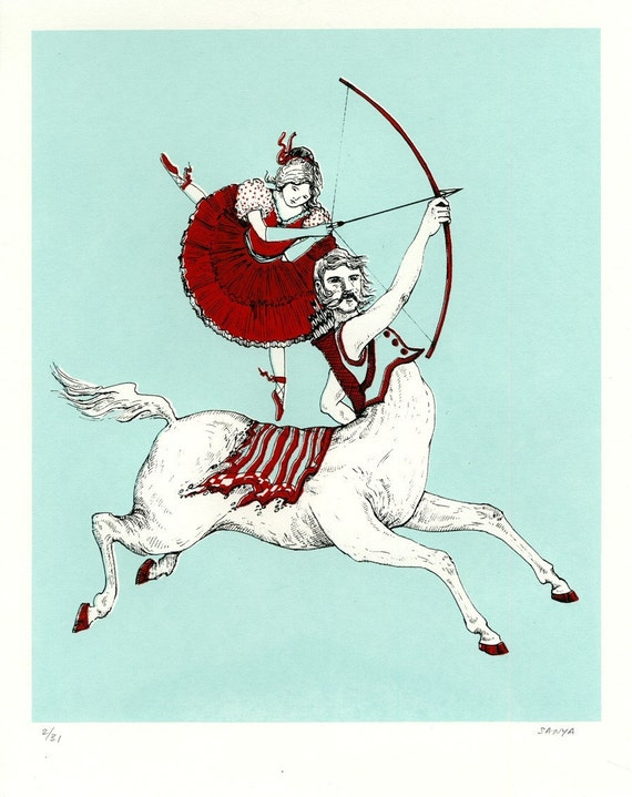SAGITTARIUS, Screenprint Limited Ed. handprinted