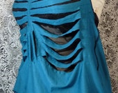 Ribcage Cutout Knit One of A Kind Halter Top