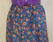 Size 14/16 - 18/20 with elastic Vintage Tropical Garden Skirt