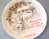 Vintage Christmas Plate American Watercolor Society 1977