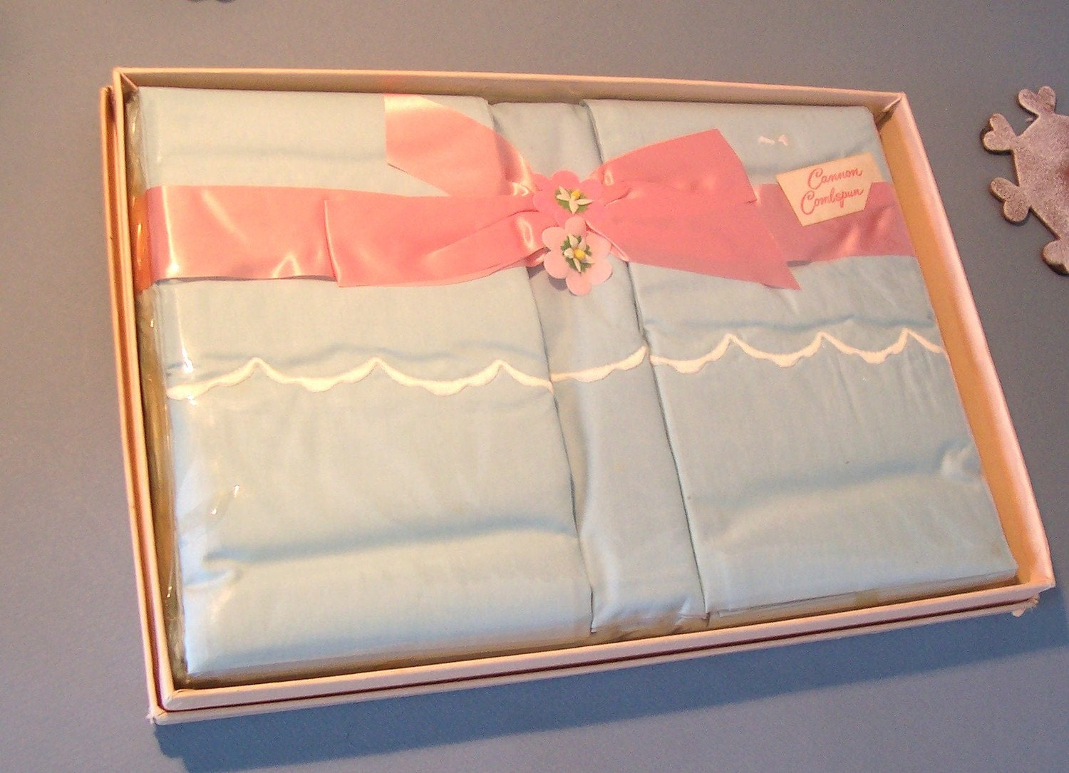 Vintage Cannon Combspun Percale Sheet Set By Clairesfaire