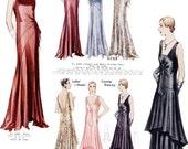 Vintage Deco-Era McCall's PATTERN Counter book on CD 1930 Ladies' Section/Kimonos/Nurse Uniforms/Lingerie/PJs/Evening Gowns/Paris Chic