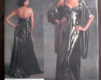 Vogue V1079/1079 Badgley Mischka dress pattern Size A (6-8-10) uncut/OOP Evening Gown