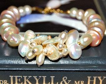 Pearl and 14k Gold filled Bracelet