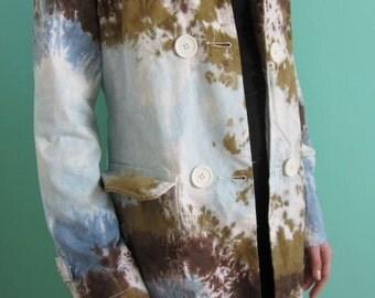 Tie Dye Trench Coat