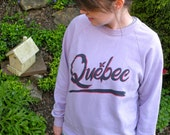 RESERVED FOR RACHEL Vintage 1980's Purple Quebec Sweatshirt