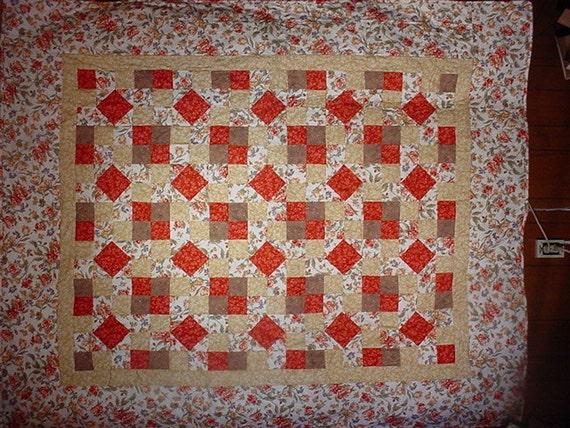 Double size Quilt Flannel Floral Double  24