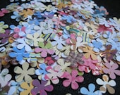 Mini Punched Paper Flowers Mixture... Scrapbooking.. 75 PLUS A PINCH Flowers... 1.00 dollar listing