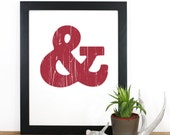 Ampersand Screenprint 12 x 19 in Pick Your Color