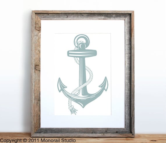 Anchor Poster Small Screenprint Choose your color