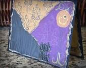 Halloween Card Trick or Treat Handmade Faux bois Chandelier Jack o Lantern Party Decor