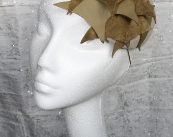 Leather Sculptural Beret - Great hat in my sample sale perfect for a wedding or the races