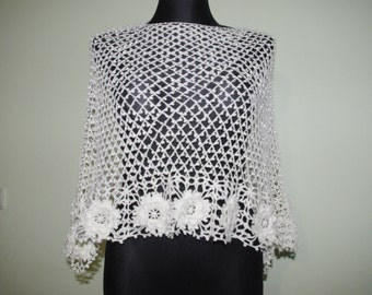 Knitted shawl for wedding party