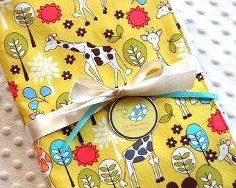 Baby Blanket - Giraffe Garden Baby Boy or Baby Girl Blanket - Toddler Blanket