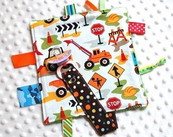 Pacifier Blanket - Pacifier Clip Boy - Sensory Lovey - Trucks