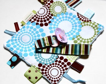 Pacifier Clip - Tag Blanket - Binky Holder - Roundabout Spa