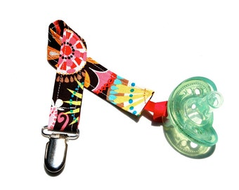 Pacifier Clip Girl  - Carnival Bloom - Pacifier Holder - Mam Pacifier Clip -  Nuk Pacifier Clips - Binky Clips