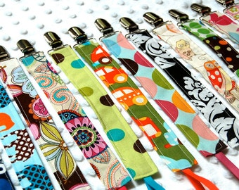 Pacifier Clip - Set of 5 Soothie Clips - Baby Boy or Baby Girl Binky Holders - Over 85 choices