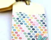 SWEET BUTTERFLIES - Set of 4 Handmade Colourful Gift Tags