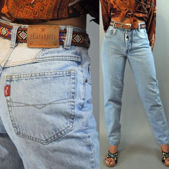 80s Super High Rise Jeans Distressed Faded Z Cavaricci Denim