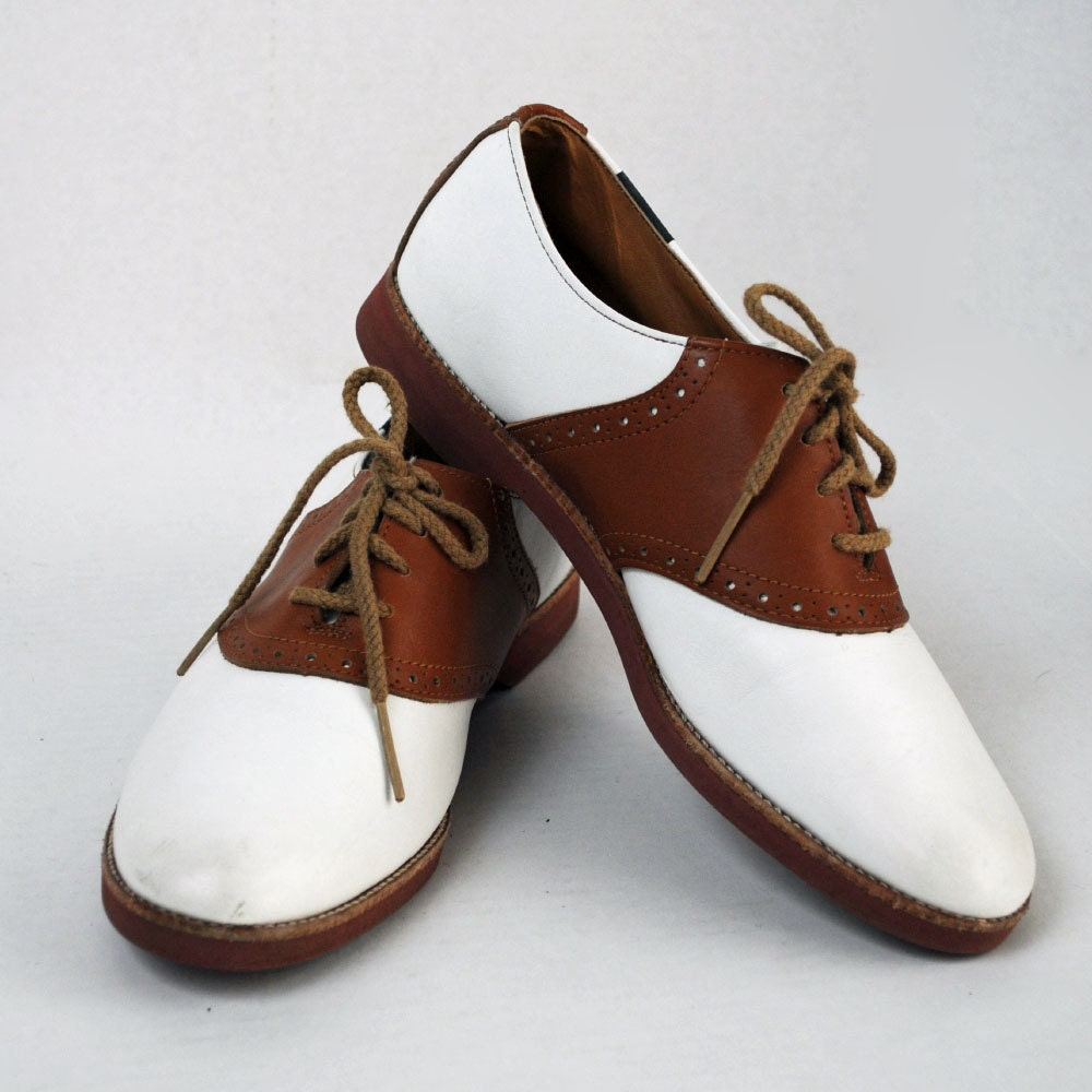 vintage shoes lace up saddle oxfords two by