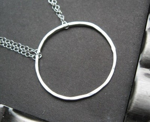 Circle of Life Necklace - Sterling Silver Hoop on Sterling Silver Chain