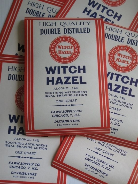 vintage POTIONS labels Witch Hazel apothecary Halloween