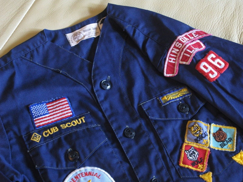 pair of vintage cub scout shirts
