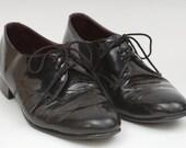 1960's Black Patent Oxford Shoes SALE
