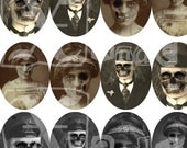 Spooky II 30mmX40mm Ovals - INSTANT DOWNLOAD - 8.5 x 11 inch Printable Digital Collage Sheet with 36 images