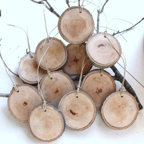 Natural and Eco-Friendly XL Blank Tree-Branch Tags with Twine (Set of 11)